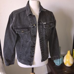 Vintage GUESS Distressed Jean Jacket Gray Retro S